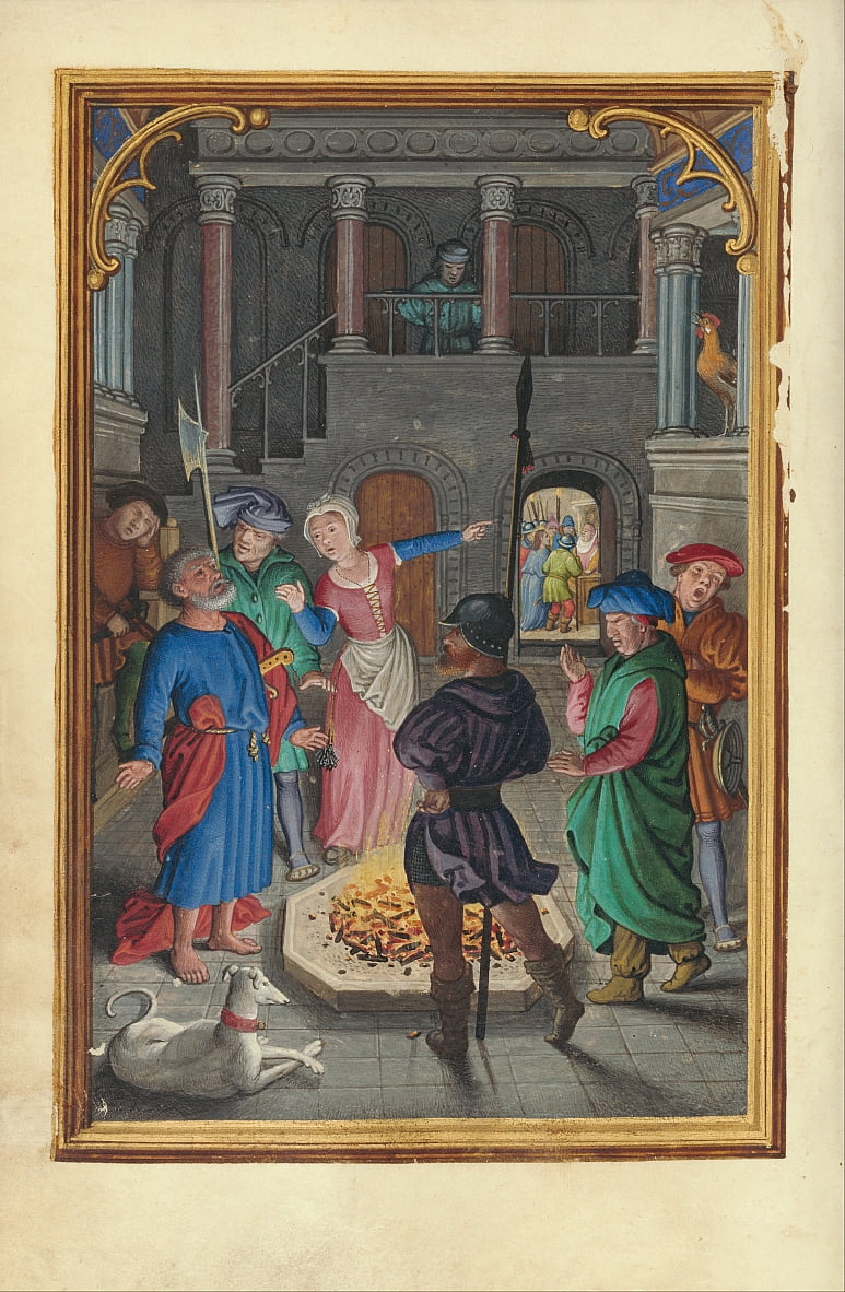 The Denial of Saint Peter by Simon Bening