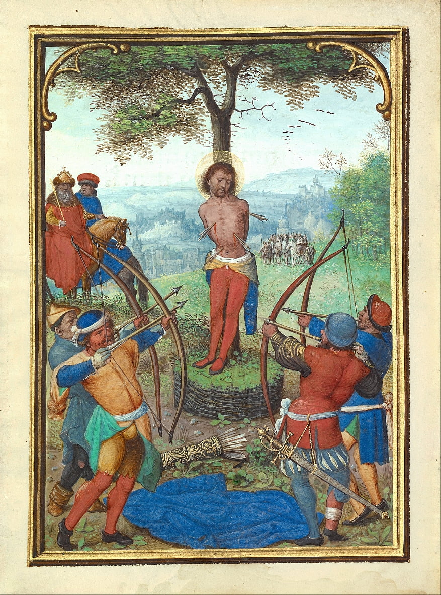 The Martyrdom of Saint Sebastian by Simon Bening