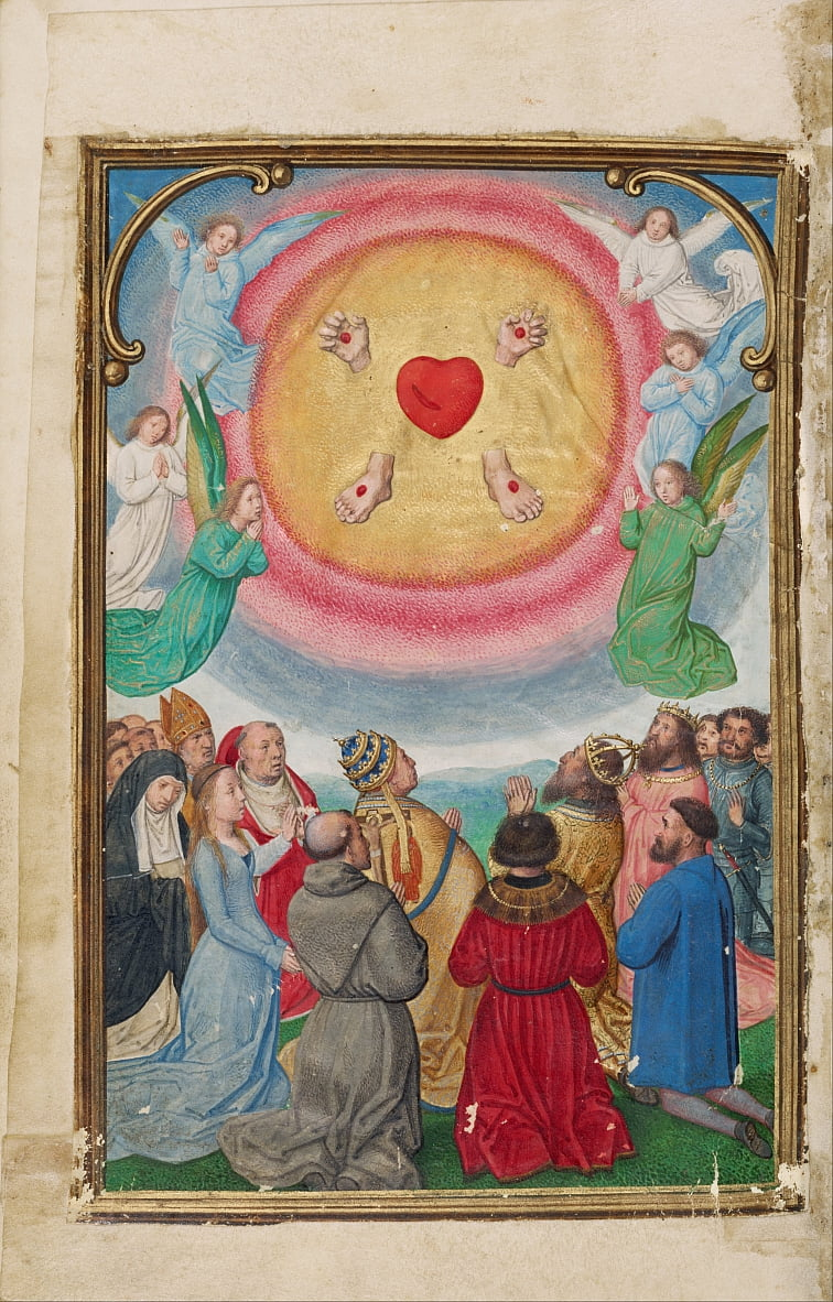 The Worship of the Five Wounds by Simon Bening