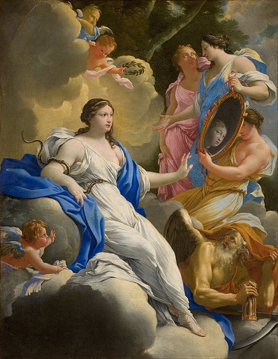 Allegory of Prudence, 1645.  by Simon Vouet