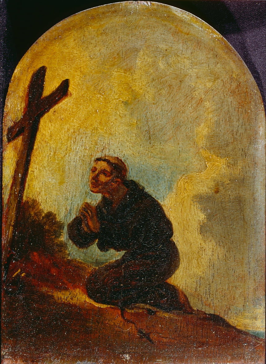 Friar in Prayer by Sir Peter Francis Bourgeois