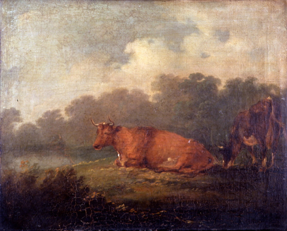 Landscape with Cattle (A Cow Resting) by Sir Peter Francis Bourgeois