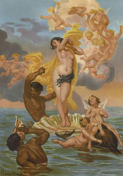 The birth of Aphrodite by Spanish School