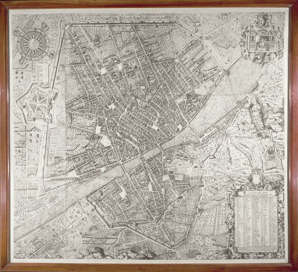 Map of Florence, 1584  by Stefano Bonsignori