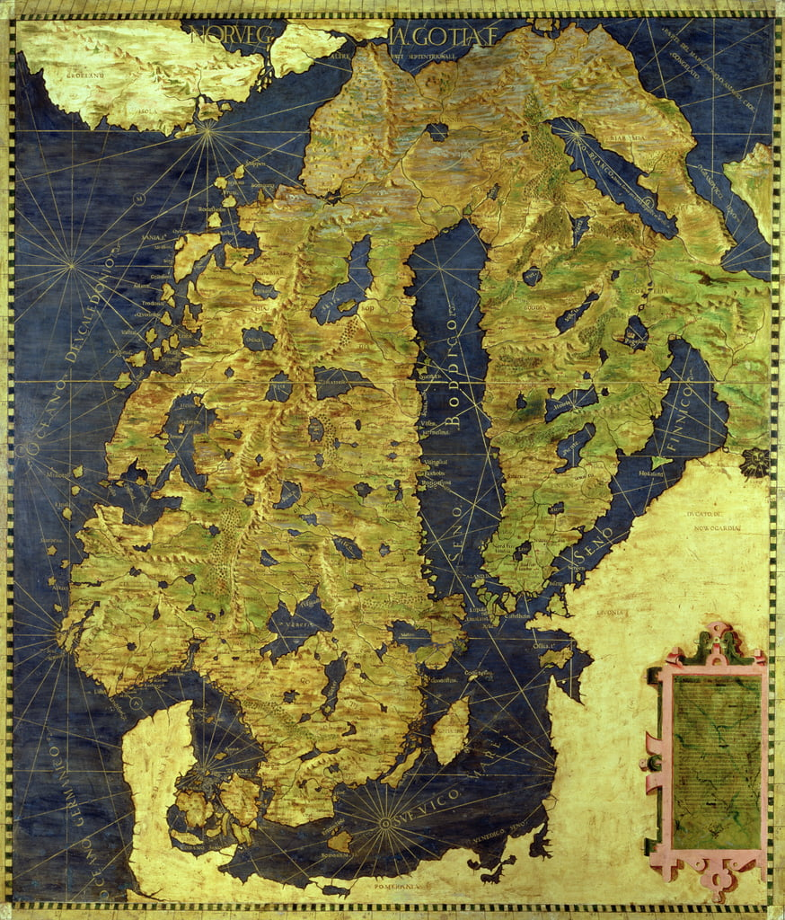Map of Sixteenth Century Scandinavia, from the