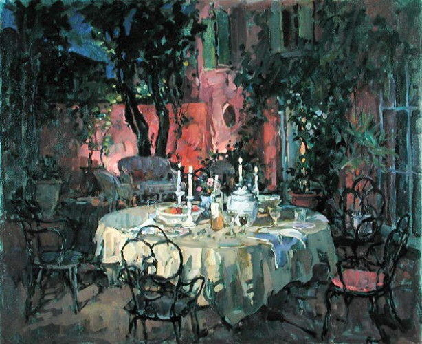 Terrace at Night  by Susan Ryder
