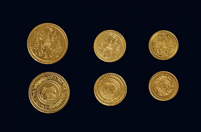 Coins from the reign of King Rama V (gold) by Thai School