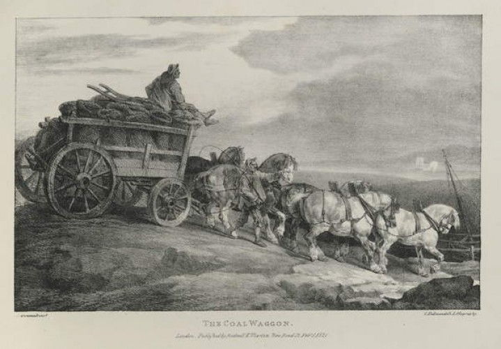 The Coal Waggon, 1821  by Theodore Gericault
