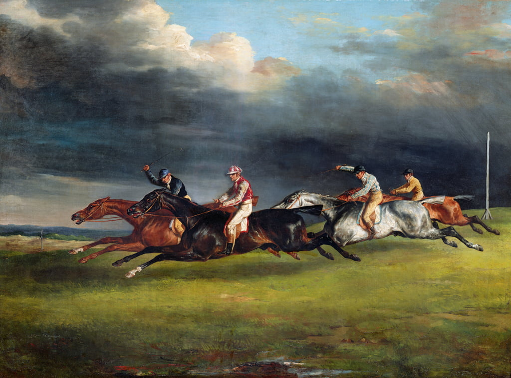The Epsom Derby, 1821  by Theodore Gericault