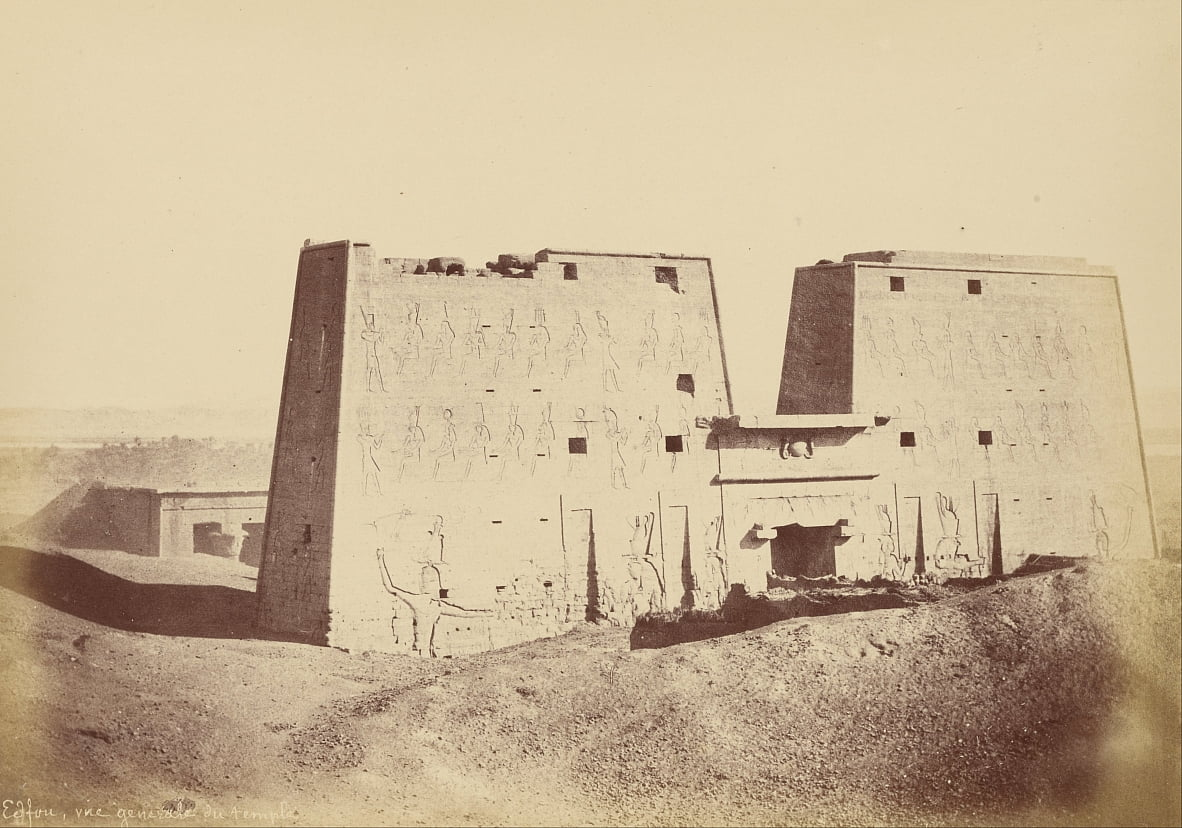 (Overview of the Temple of Edfu) by Théodule Devéria