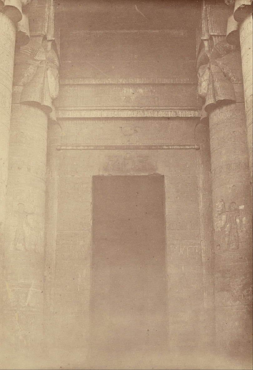 (The Inner Entrance of the Temple of Denderah) by Théodule Devéria