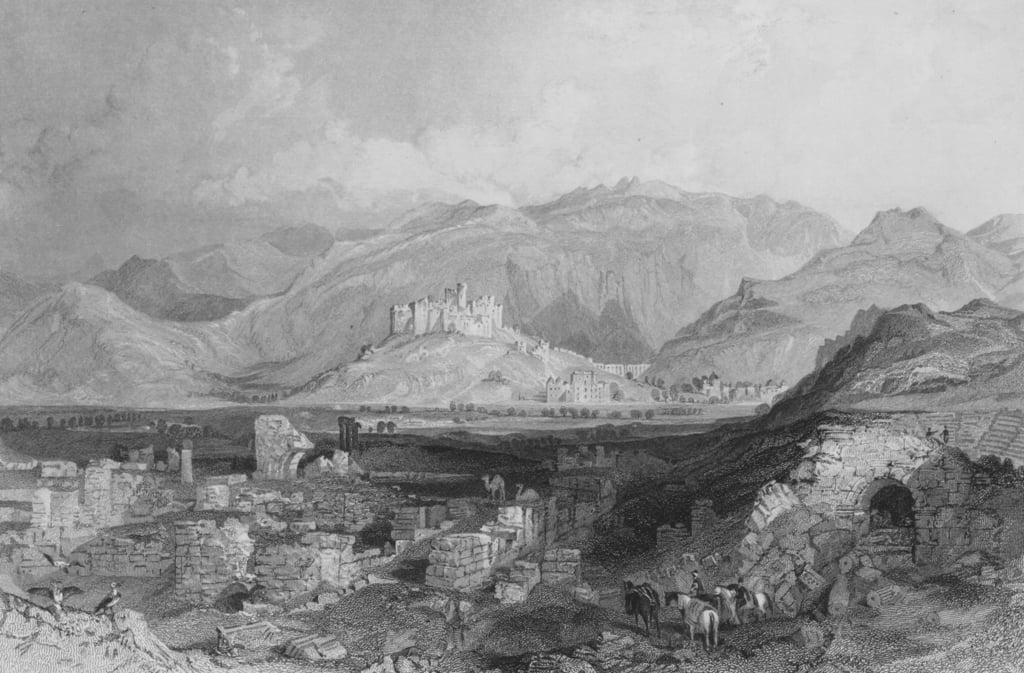 Ephesus, the Castle of Aiasaluk in the distance  by Thomas Allom