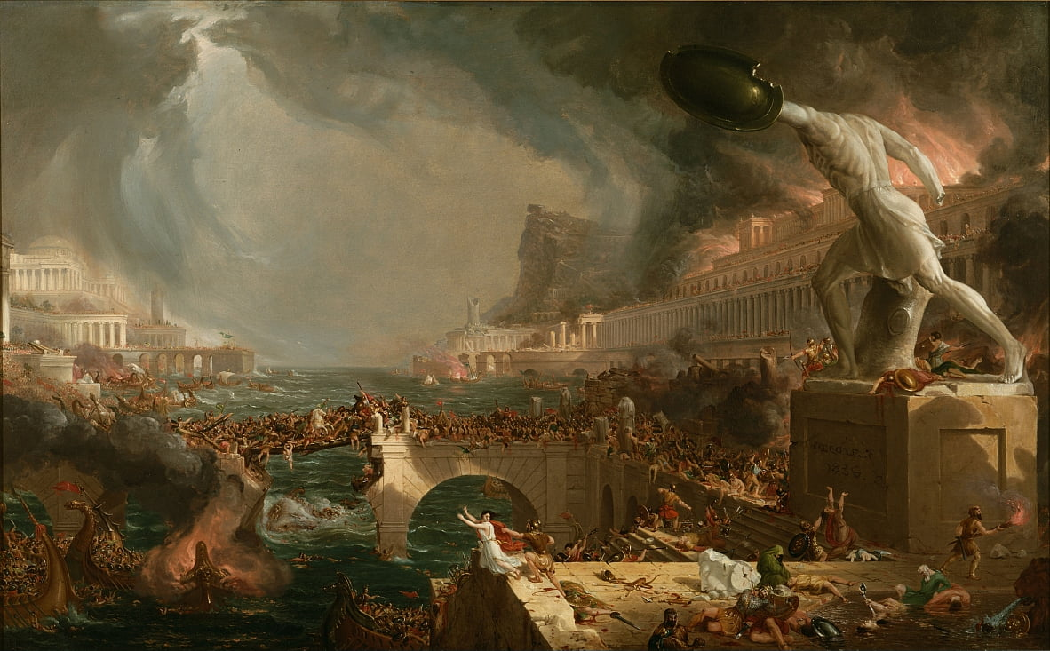 Destruction from The Course of Empire by Thomas Cole