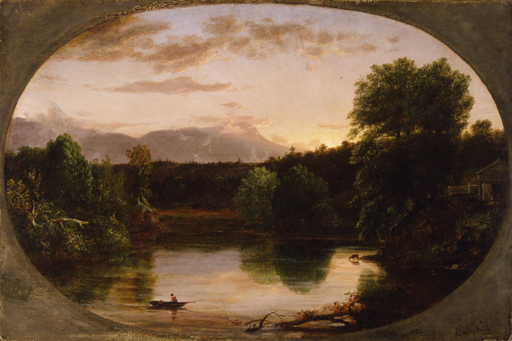Sunset, View on Catskill Creek, 1833  by Thomas Cole