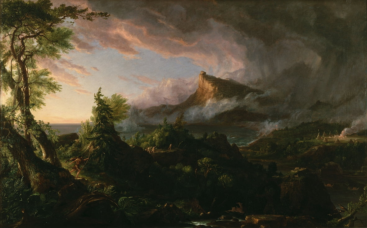 The Savage State from The Course of Empire by Thomas Cole