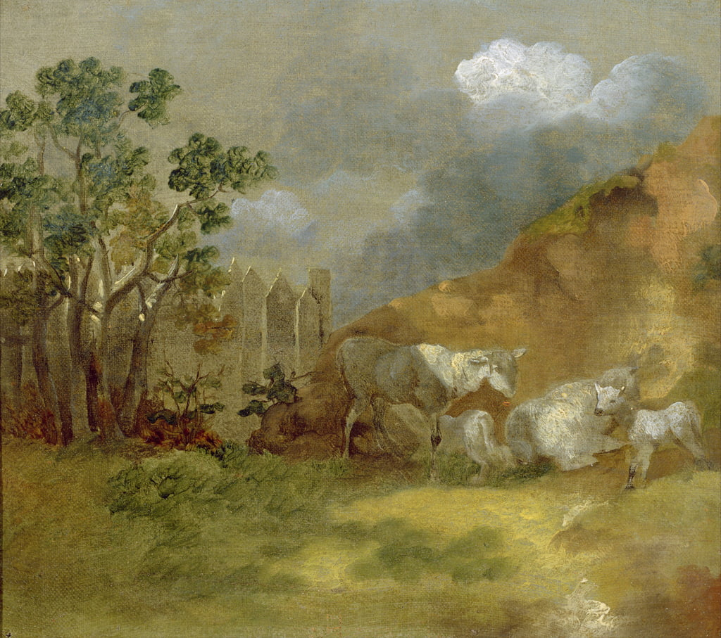Landscape with Sheep, c.1744  by Thomas Gainsborough