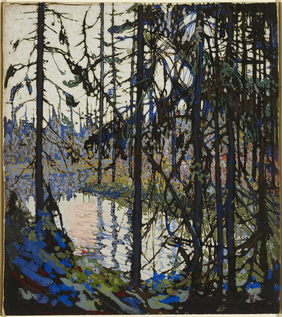 Study for Northern River, 1914-15 (gouache, brush & ink over graphite on illustration board) by Thomas John Thomson