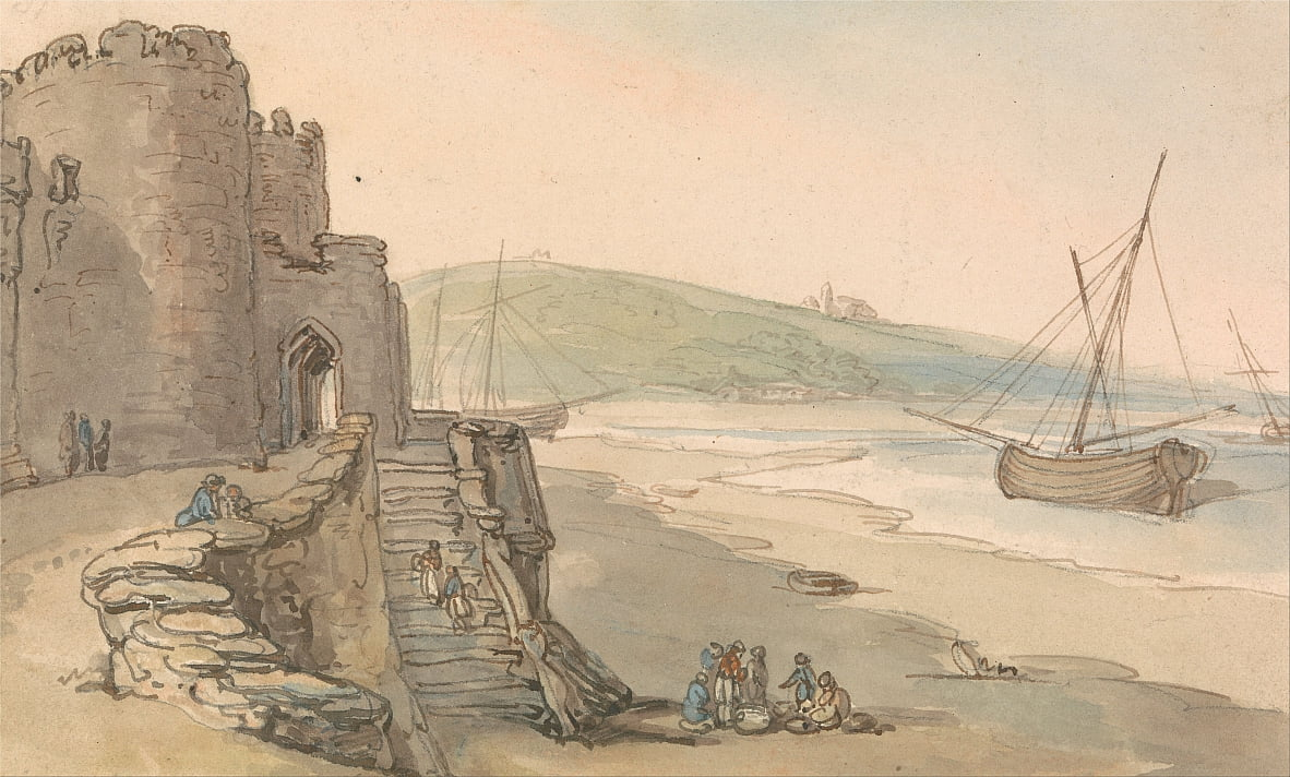 Caernarvon Castle, Entrance to a Tower by Thomas Rowlandson