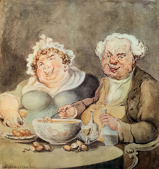 Gluttons, c.1800-05  by Thomas Rowlandson