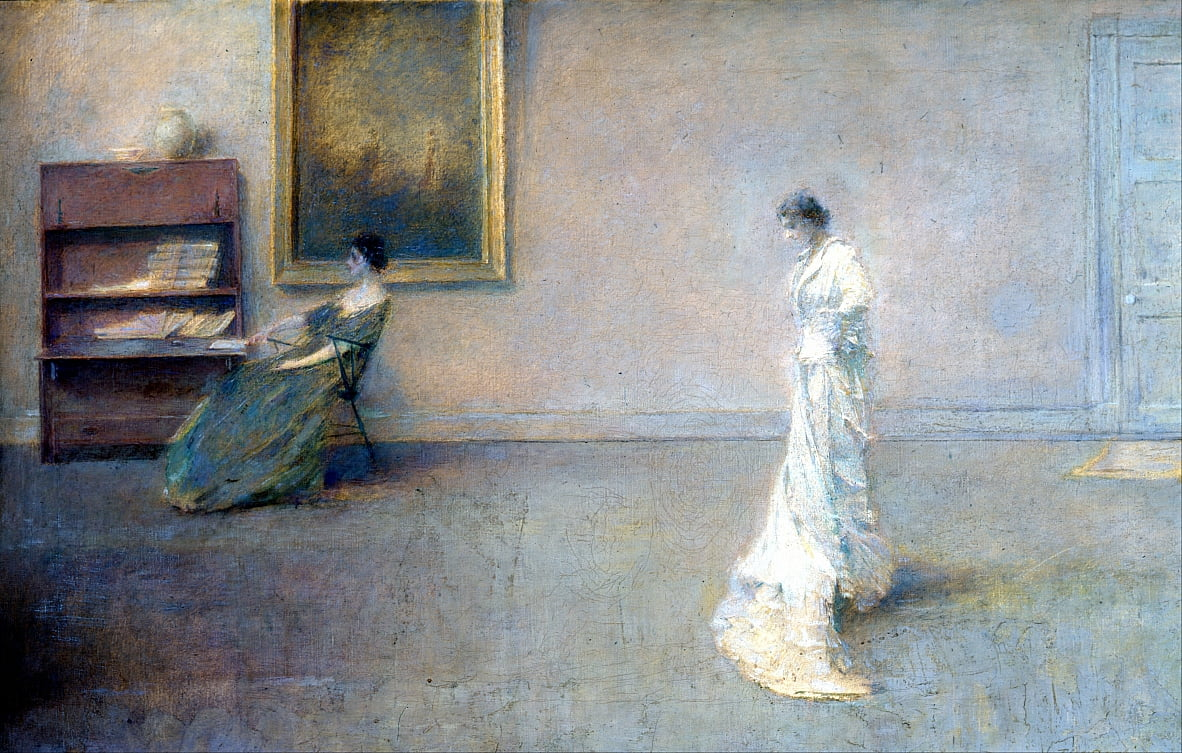 The White Dress by Thomas Wilmer Dewing