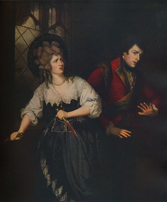 Mrs. Siddons and J. P. Kemble in the Dagger Scene from Macbeth, 1786 by Thomas Beach