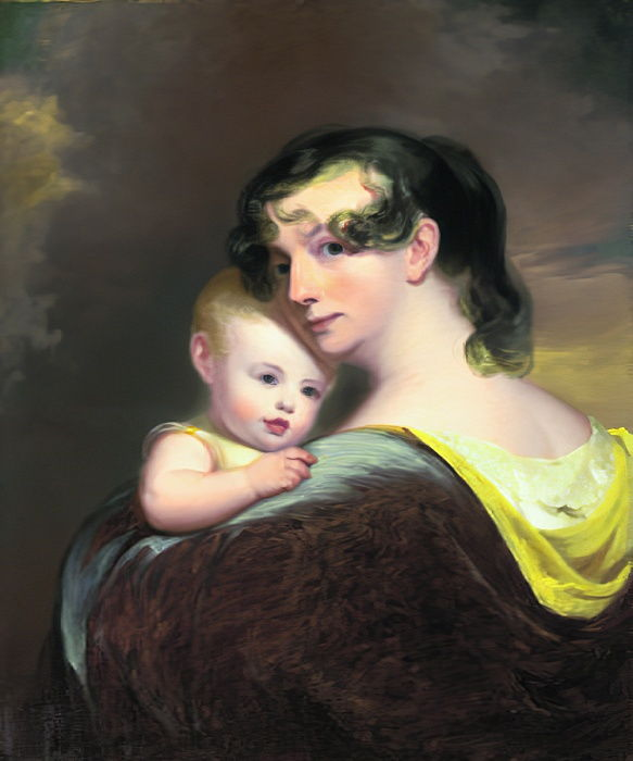 Portrait of Esther Fortune Warren and her daughter Hester, 1811  by Thomas Sully