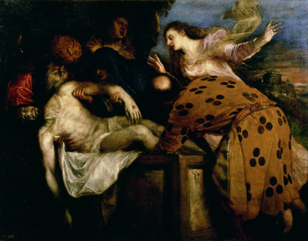 The Entombment of Christ by Tiziano Vecelli