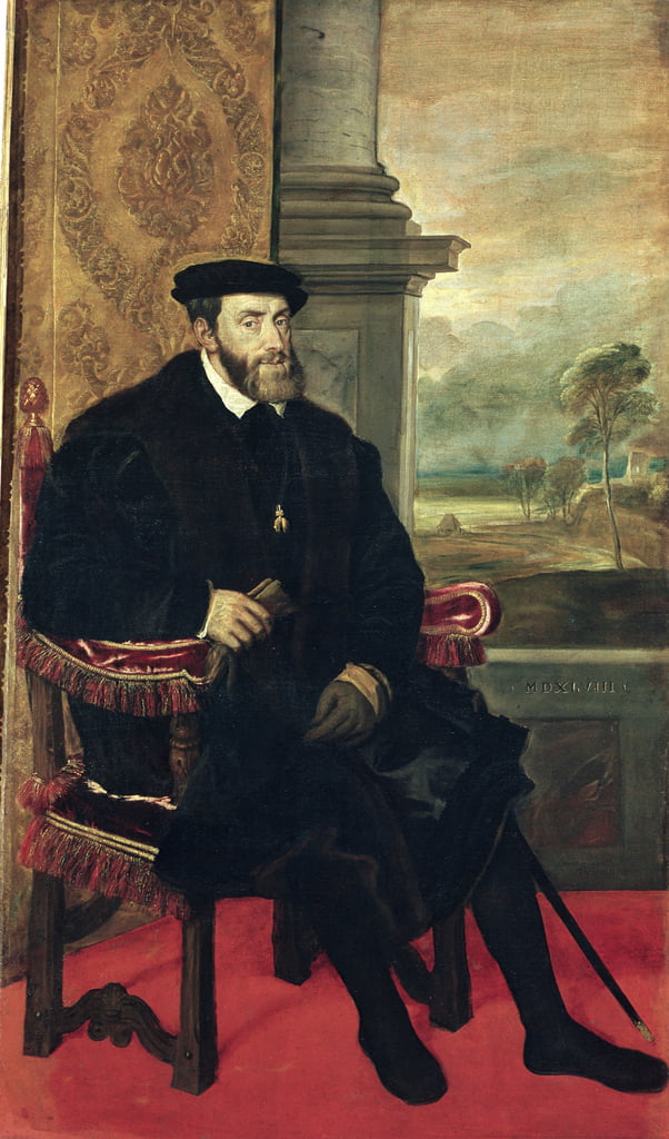 Seated Portrait of Emperor Charles V, 1548  by Tiziano Vecelli
