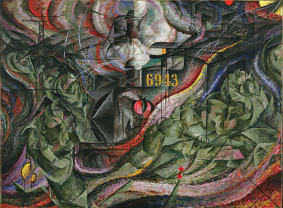 States of Mind I: The Farewells. 1911 by Umberto Boccioni