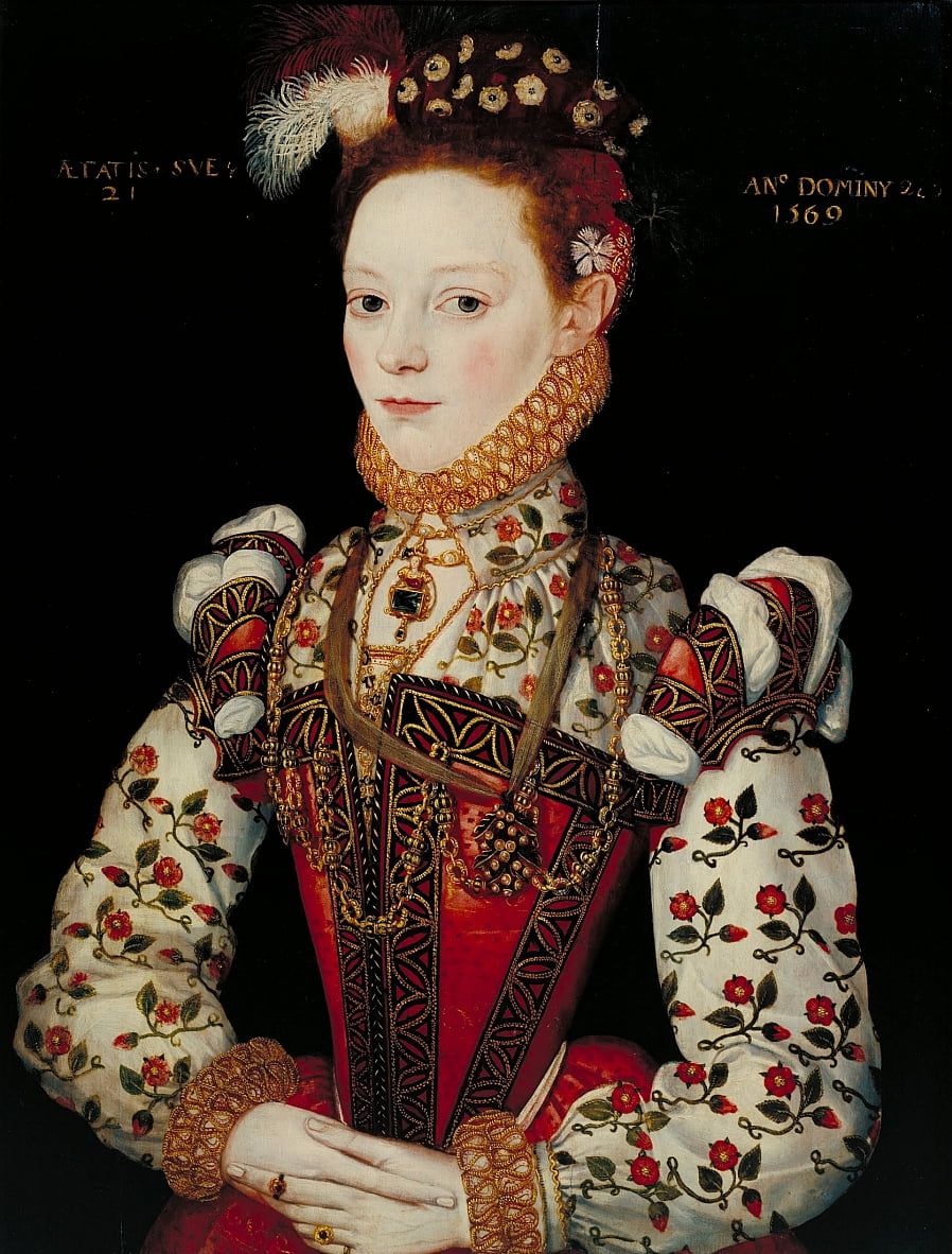 British School 16th century - A Young Lady Aged 21, Possibly Helena Snakenborg by Unbekannt Unbekannt