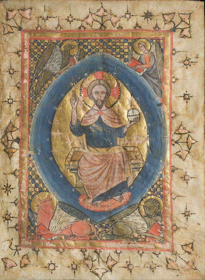 Christ in Majesty with the Symbols of the Evangelists by Unbekannt Unbekannt