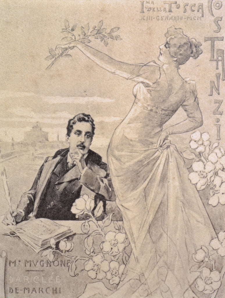 Commemorative Postcard of the first performance of the opera