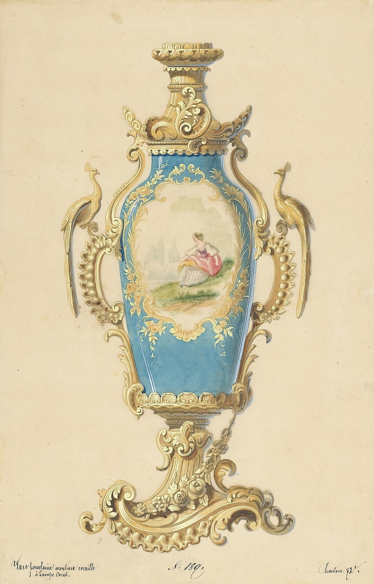 Design for the Base of an Oil Lamp by Unbekannt Unbekannt