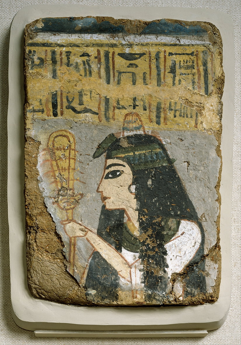 Egyptian - Wall Painting- Woman Holding a Sistrum by Unbekannt Unbekannt