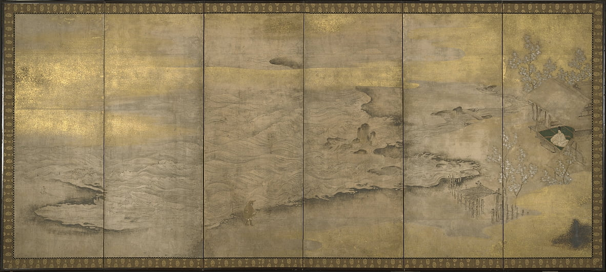 Japanese, Momoyama period (1573–1615) - An Exiled Emperor on Okinoshima by Unbekannt Unbekannt