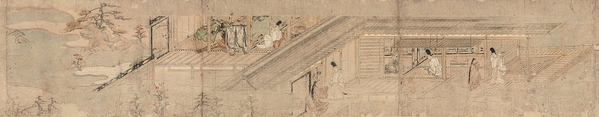Narrative Picture Scroll about Love Romance of Courtier and Girl at Sumiyoshi by Unbekannt Unbekannt