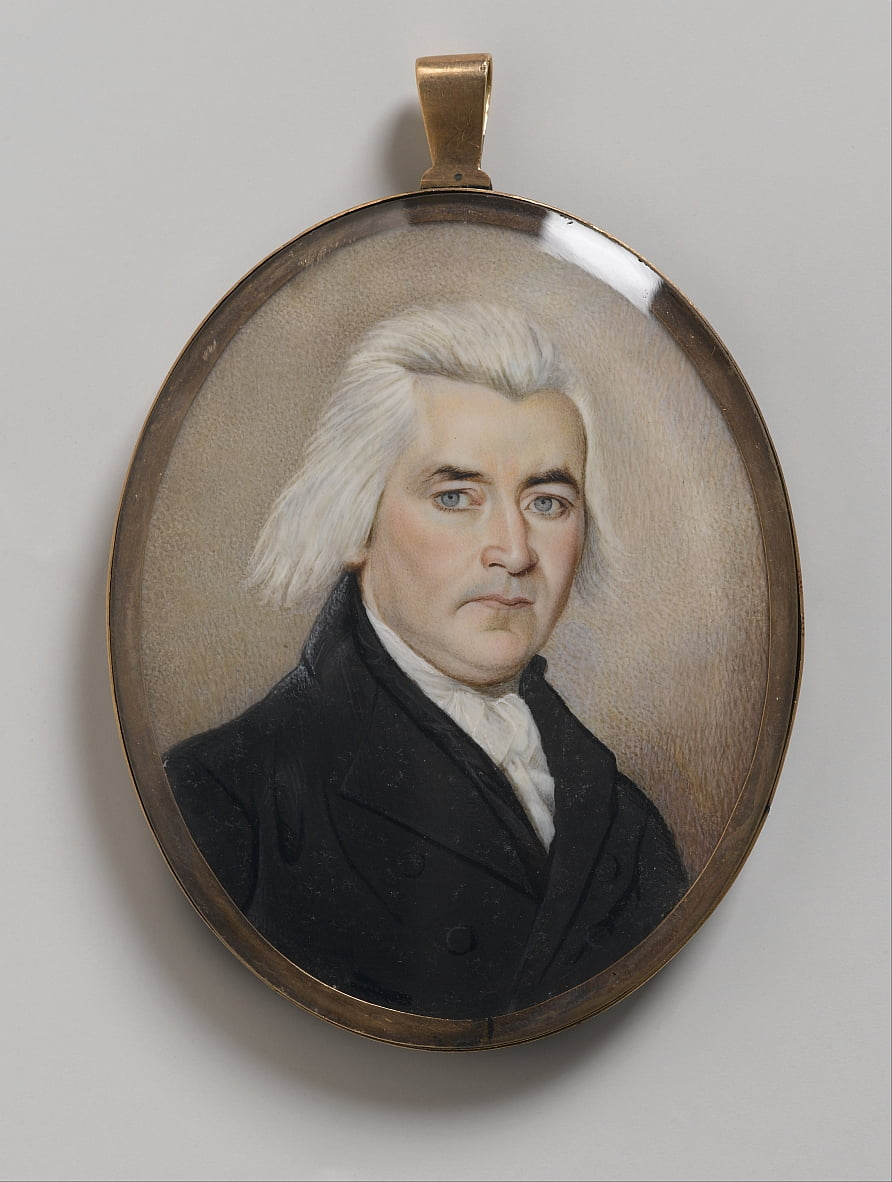 Portrait of a Gentleman, Mourning Miniature by Unbekannt Unbekannt