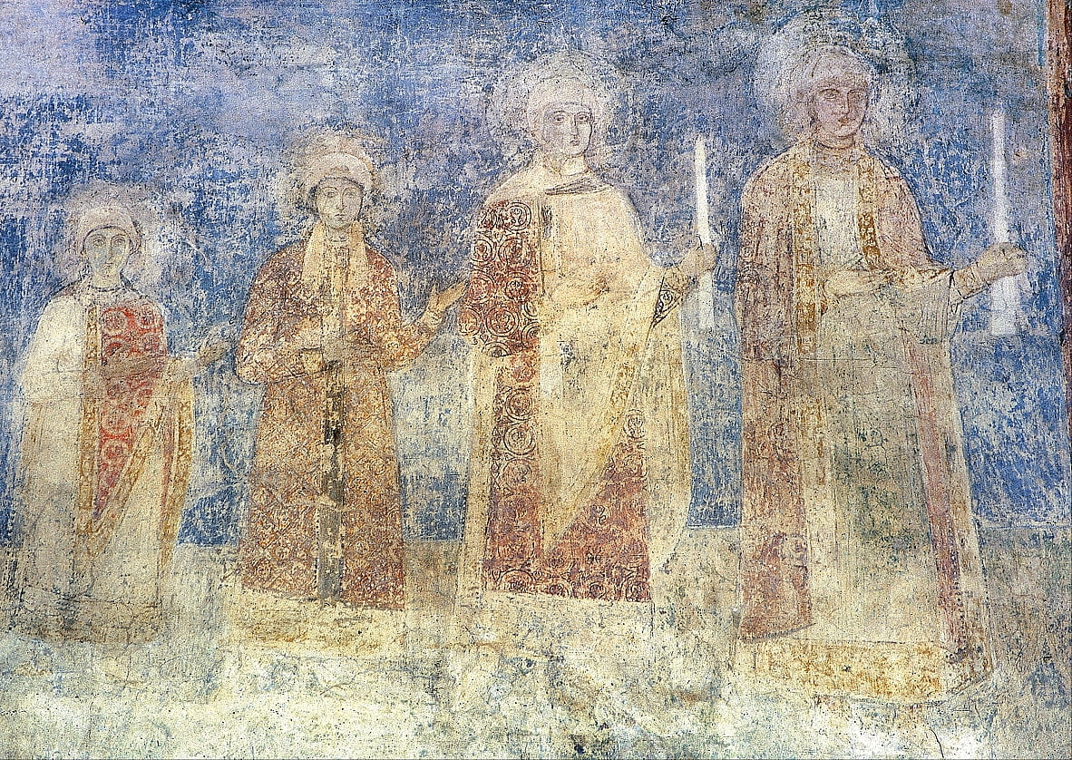 Princely group portrait. South wall of the nave. by Unbekannt Unbekannt