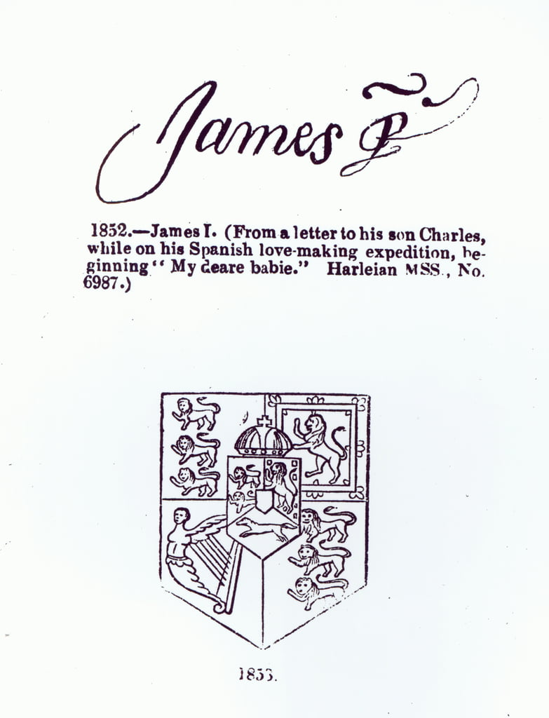 Reproduction of the signature of James VI and I (1566-1625), March 17th 1623   by Unbekannt Unbekannt