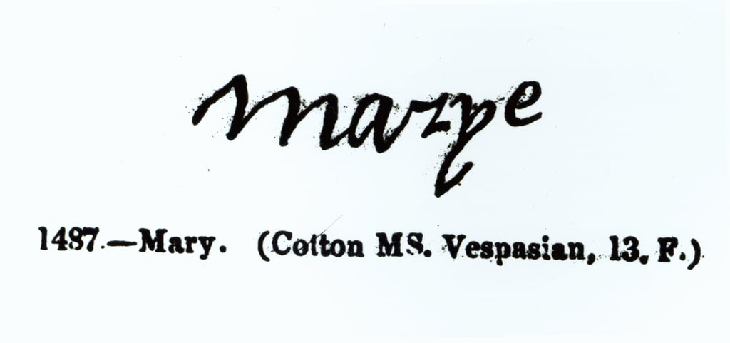 Reproduction of the signature of Mary I (1516-1558)   by Unbekannt Unbekannt