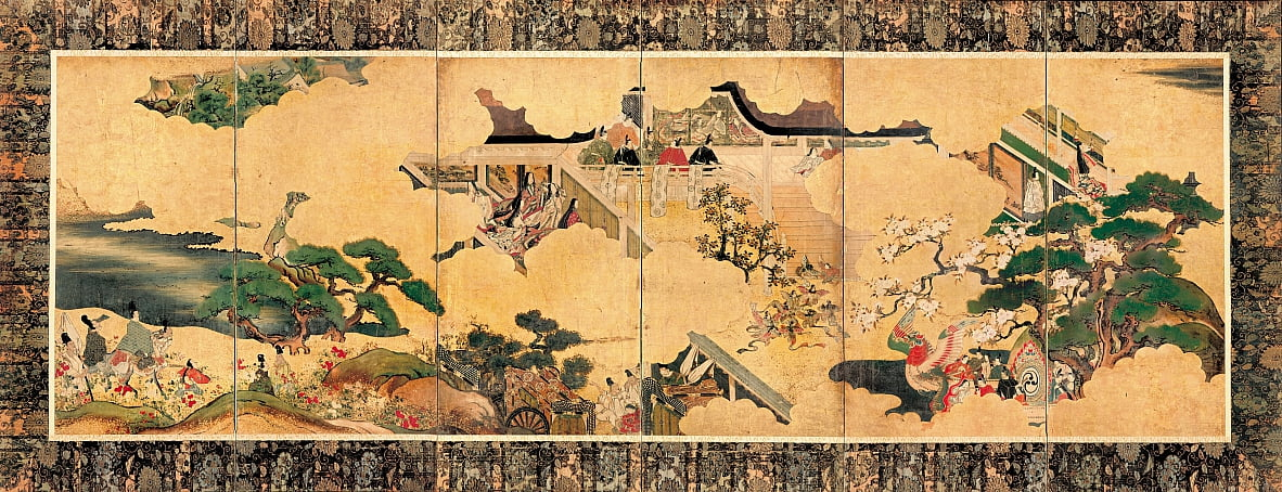 Scenes from the three chapters of The tale of Genji (Genji monogatari) by Unbekannt Unbekannt