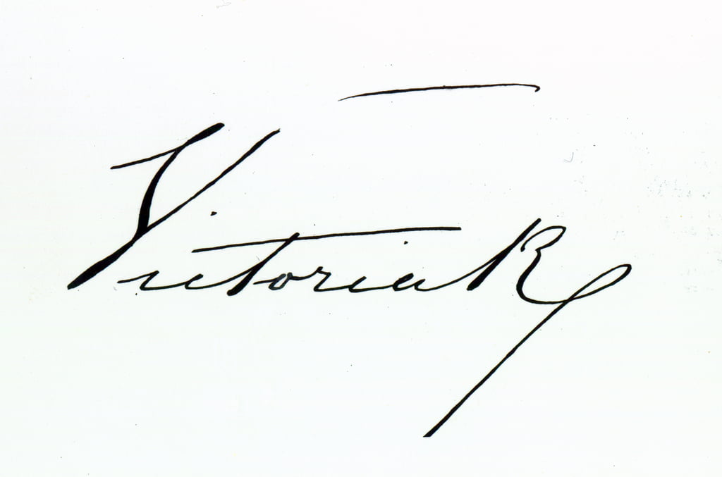 Signature of Queen Victoria (pen and ink on paper by Unbekannt Unbekannt