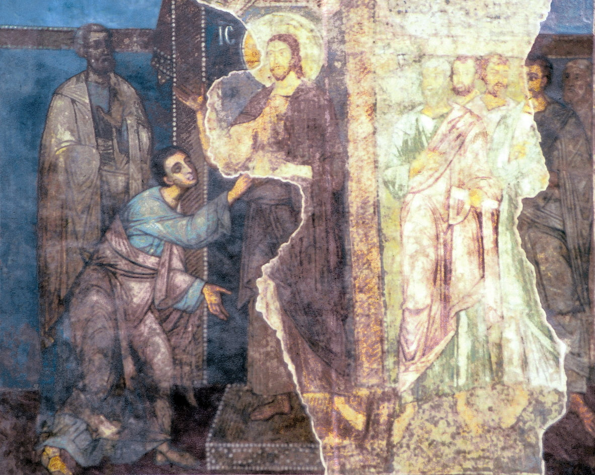 The Doubting of Thomas by Unbekannt Unbekannt