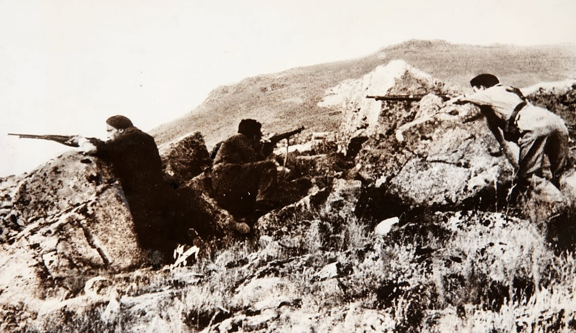 The Republican Army in the Mountains of Navacerrada by Unbekannt Unbekannt