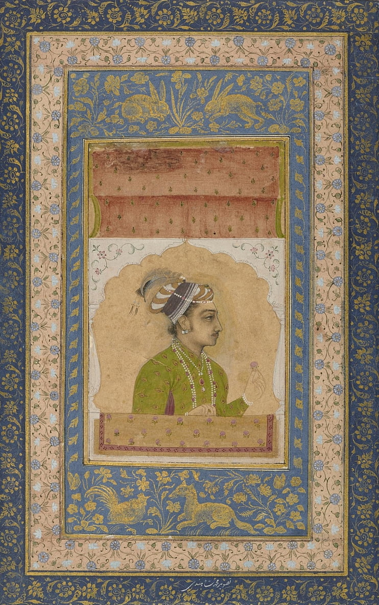Unknown Indian - Miniature Portrait of Dara Shikoh by Unbekannt Unbekannt
