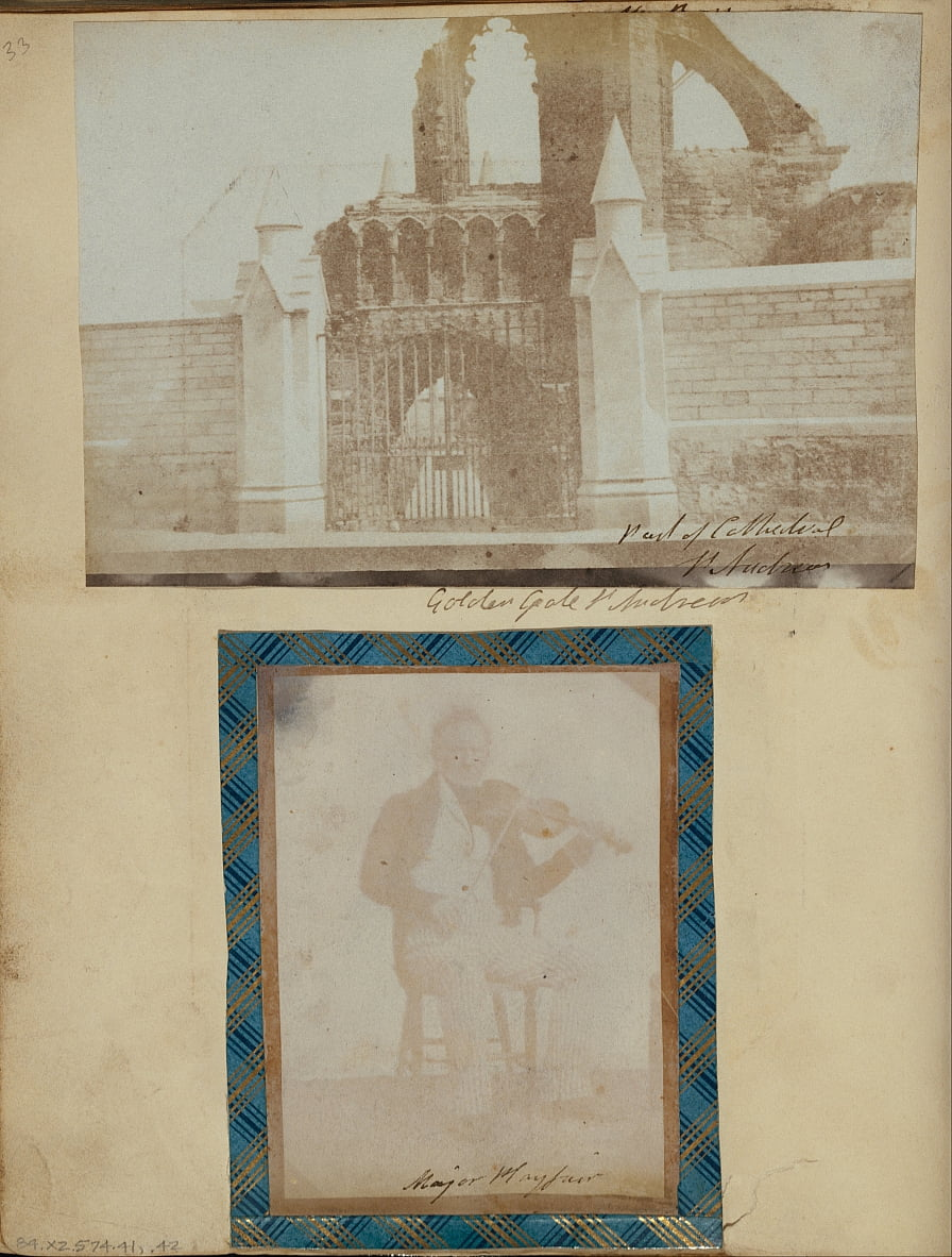 Unknown maker, British - The Entrance Gate and West Front of St. Andrews Cathedral. by Unbekannt Unbekannt
