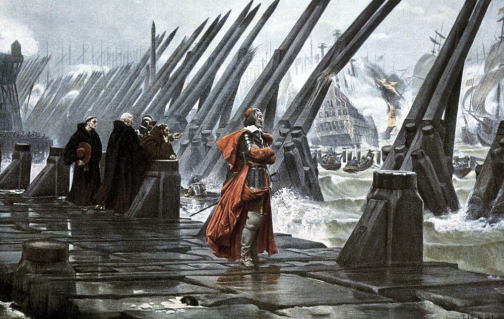 Cardinal Richelieu at the Siege of La Rochelle, 1628 ea... (#791818)