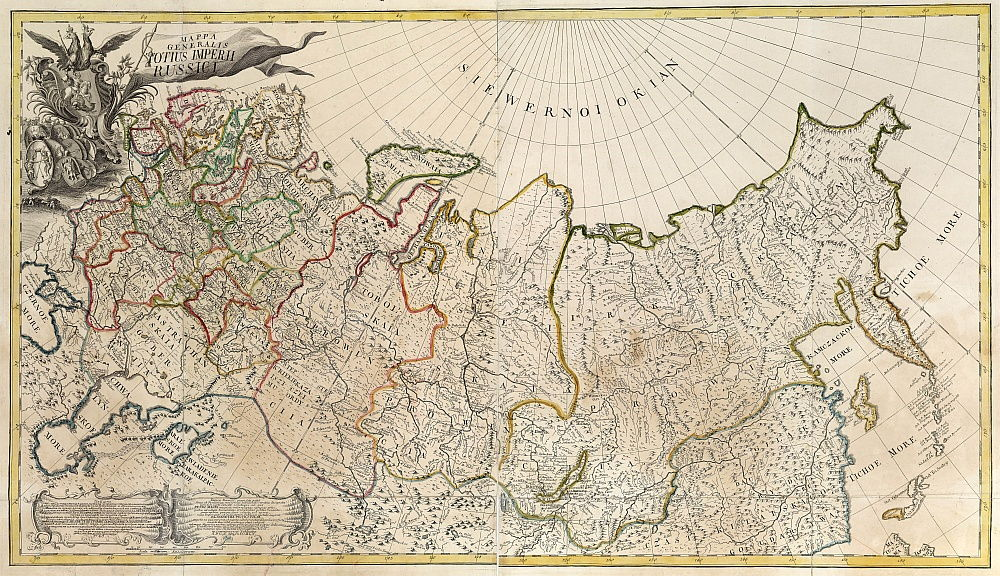 First General Map of the Russian Empire, 1745 by Unbekannt