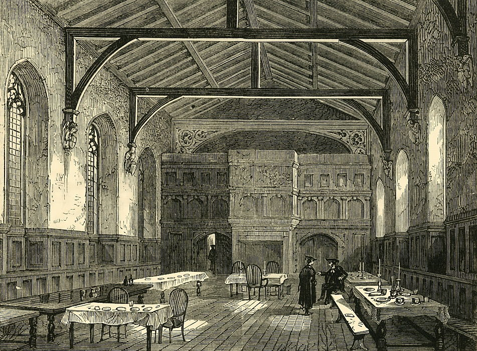 The College Hall, 1881.  by Unbekannt