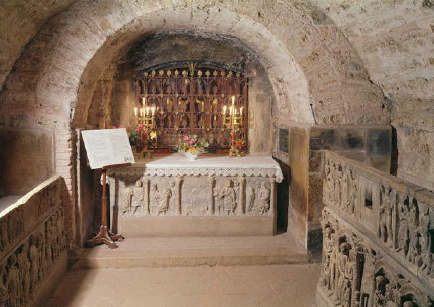 Sarcophagus of Mary Magdalene in the crypt by Unbekannt Unbekannt